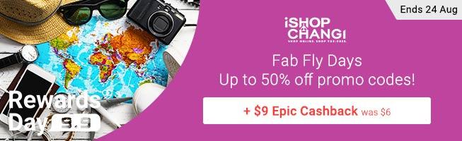 iShopChangi $6 Upsized Cashback