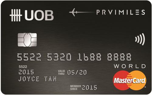 UOB PRVI Miles World Mastercard