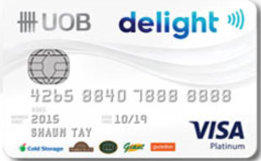 UOB Delight Credit Card Promos