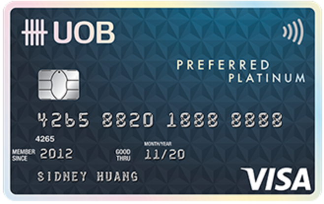 UOB Preferred Platinum Visa Card Promos