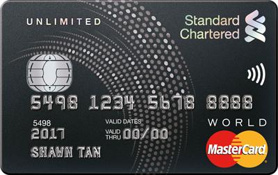 Standard Chartered Unlimited Cashback Promos