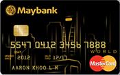 Maybank World Mastercard Promos