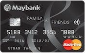 Maybank Family & Friends Card Promos