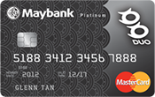 Maybank DUO Platinum MasterCard Promos