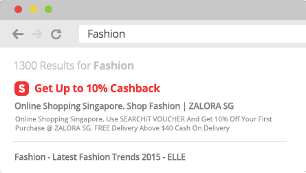 ShopBack Cashback Buddy - Search engine notifier