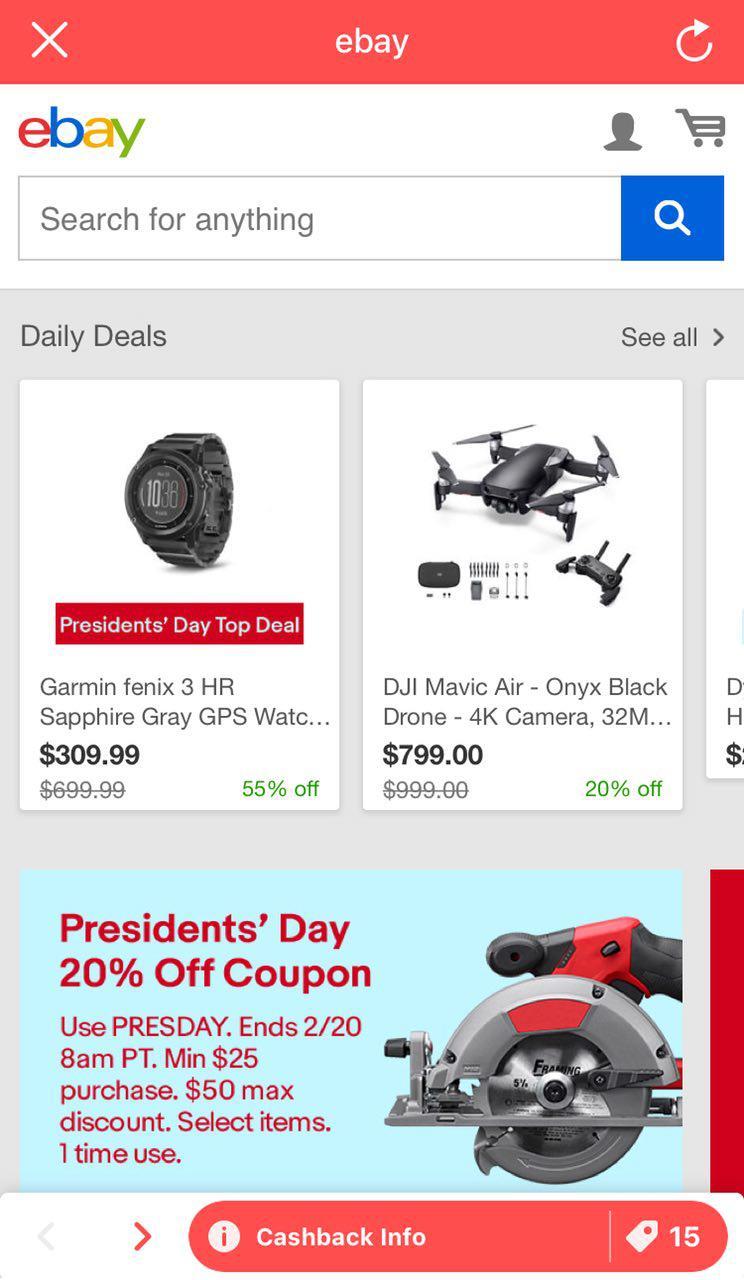eBay Shopback App