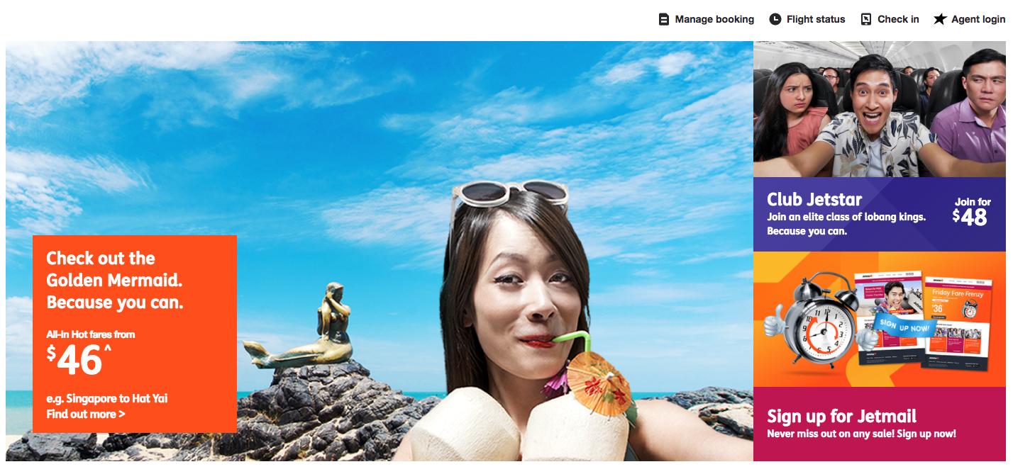 Jetstar Homepage