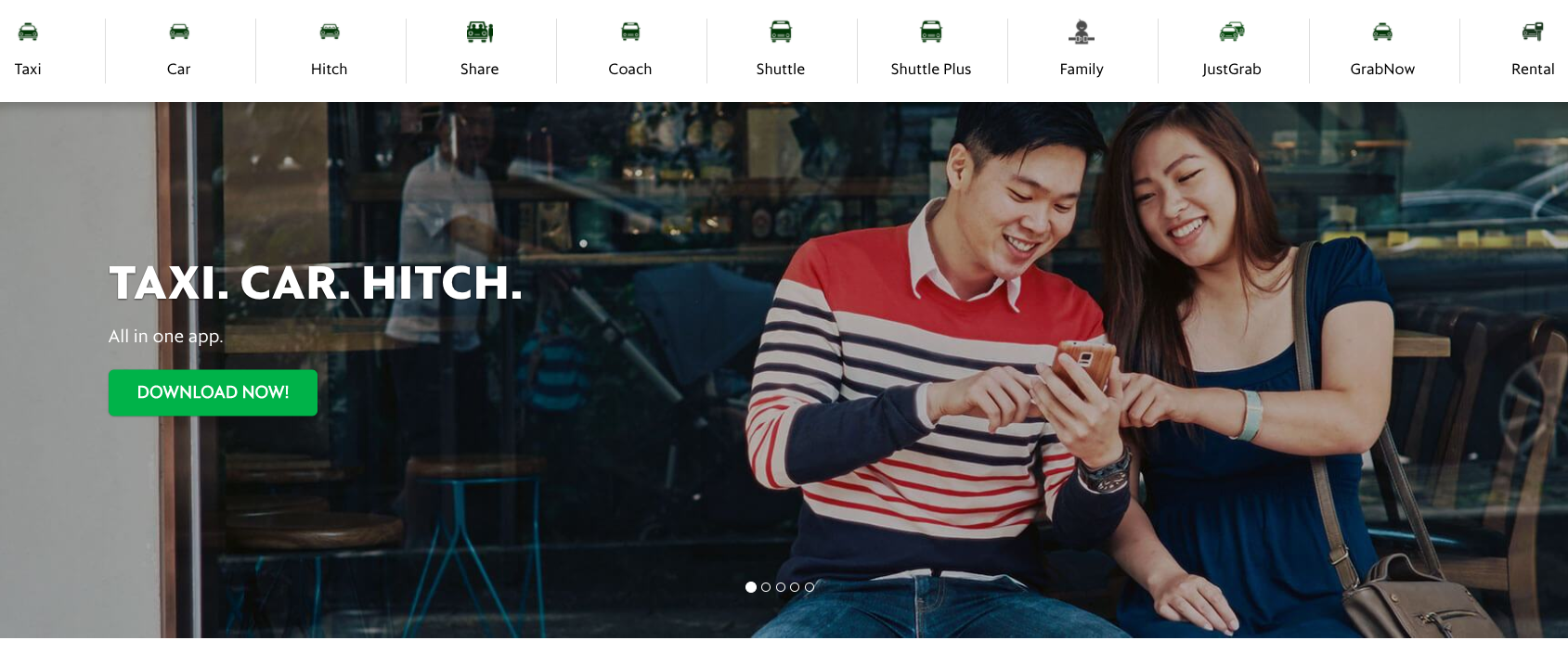 Grab Homepage