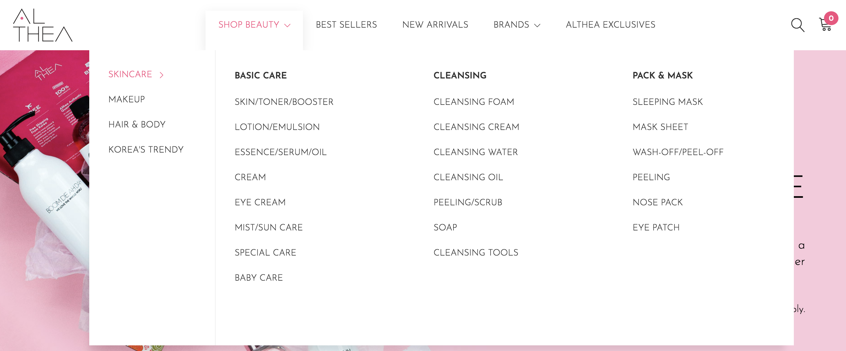Althea Product Categories
