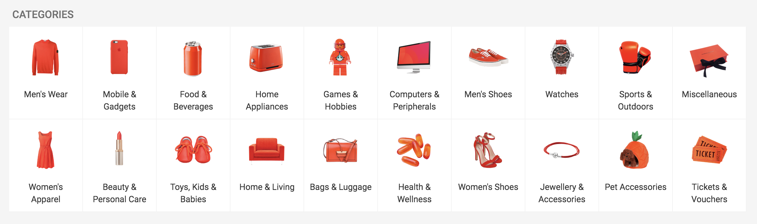 Shopee Product Categories