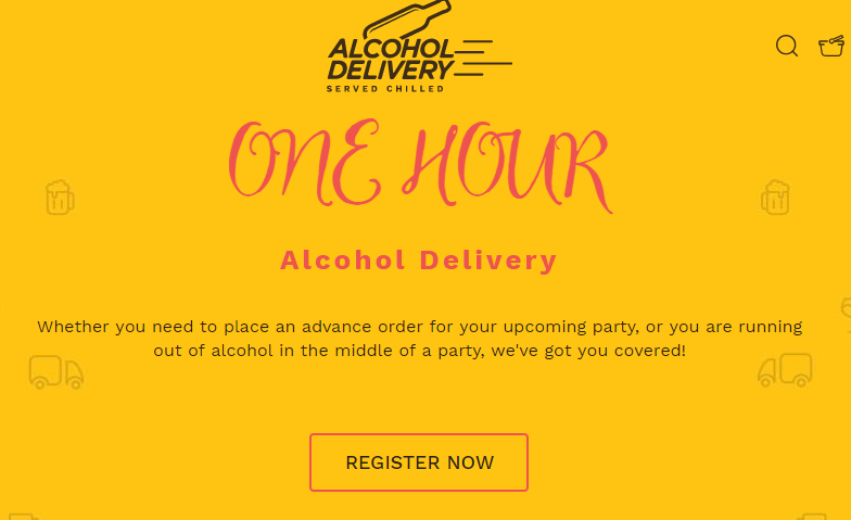 Alcohol Delivery Homepage