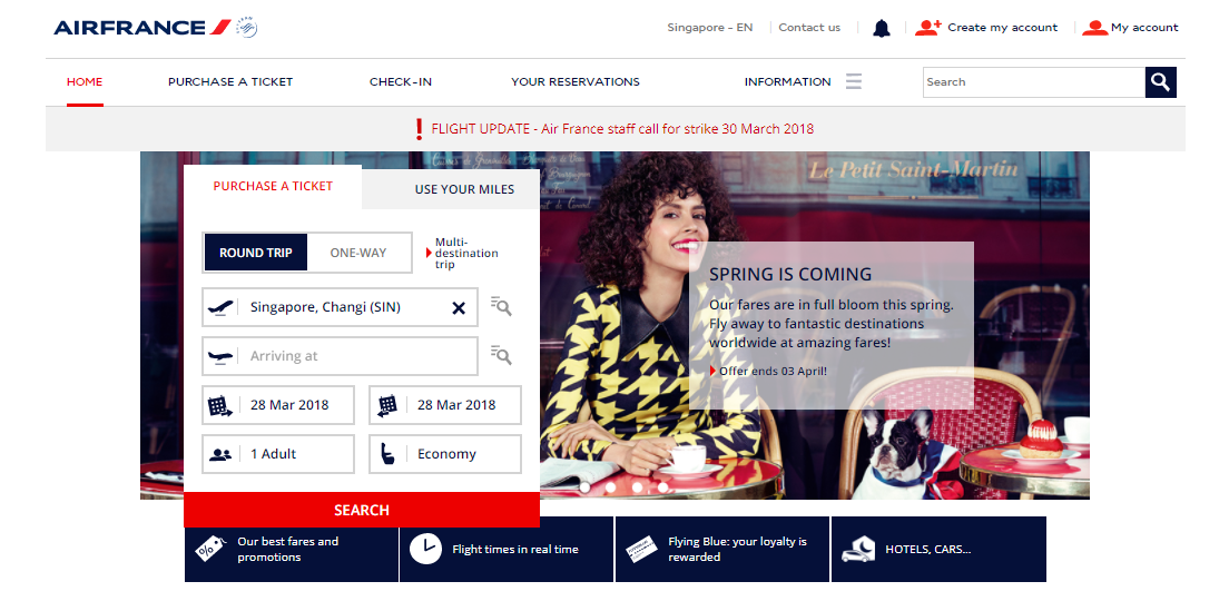 Air France Flight Booking