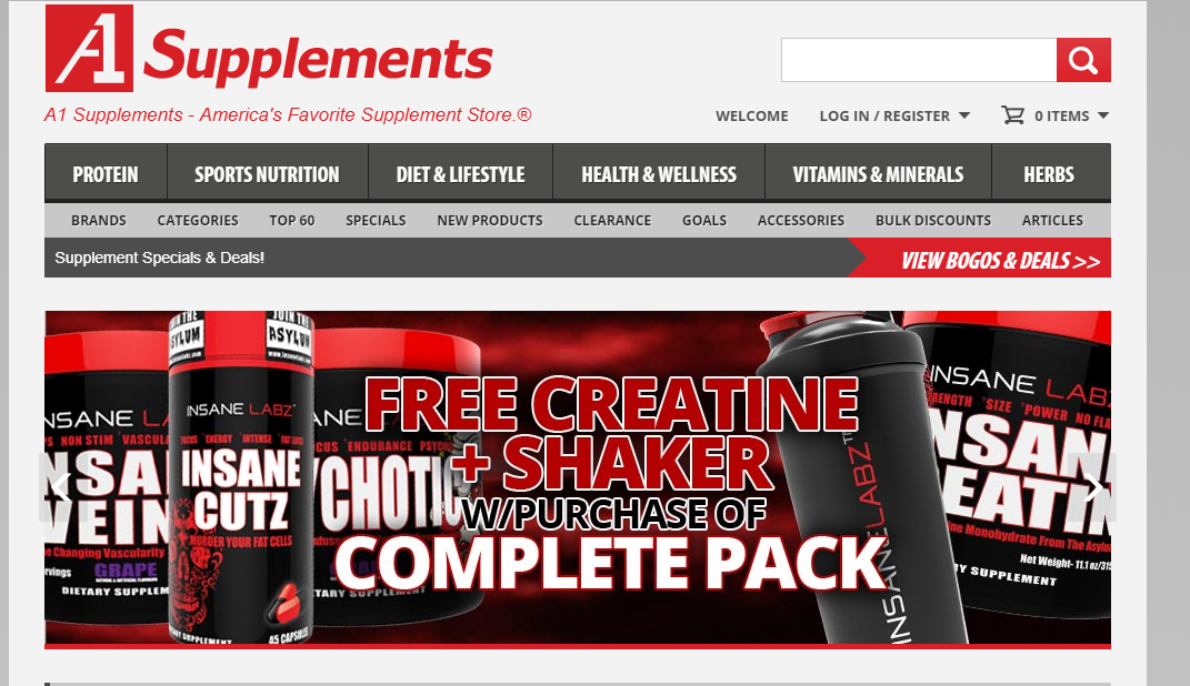 A1Supplements Product Categories