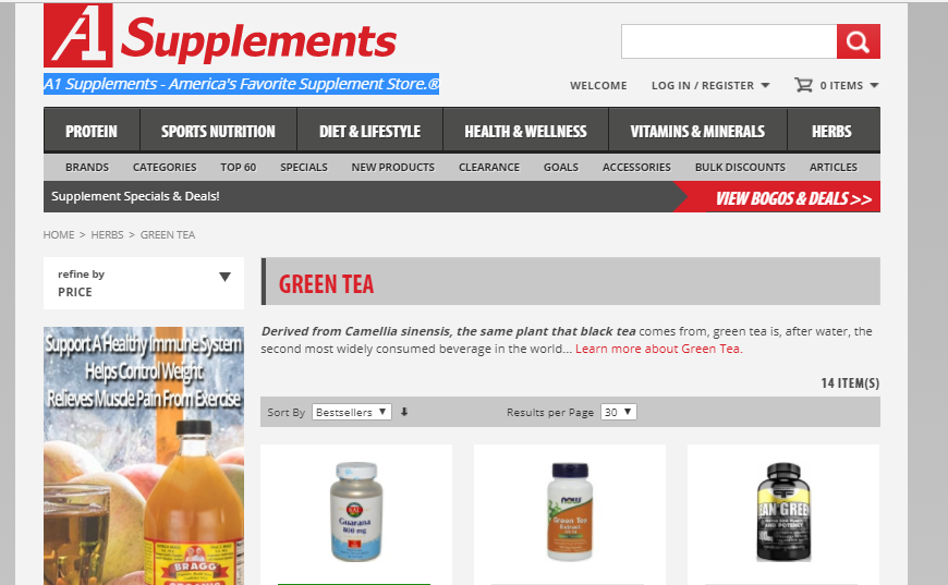 How to shop at A1Supplements.com