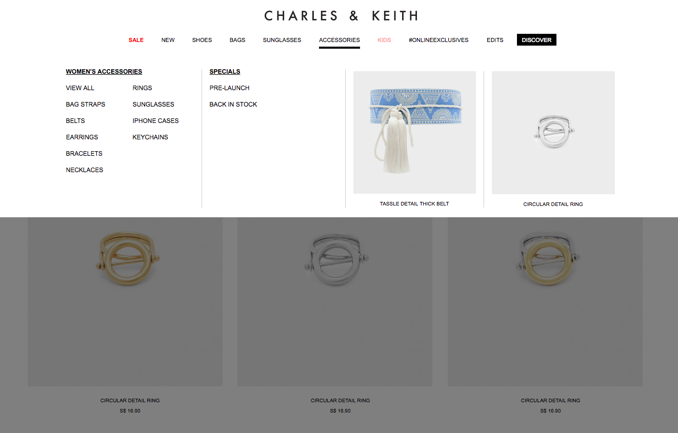 Charles & Keith Accessories