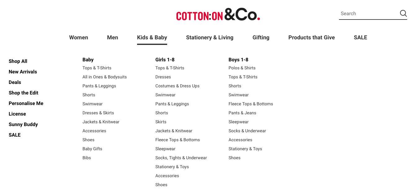 Cotton on Kids & Baby