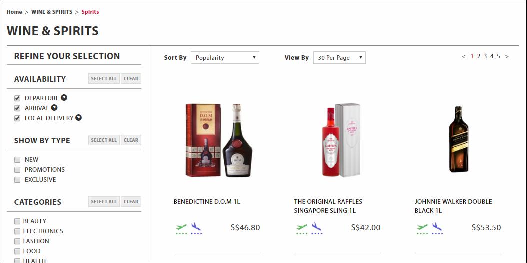 iShopChangi Wine and Spirits