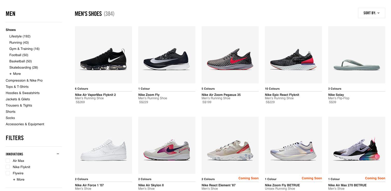 Nike Men s Shoes