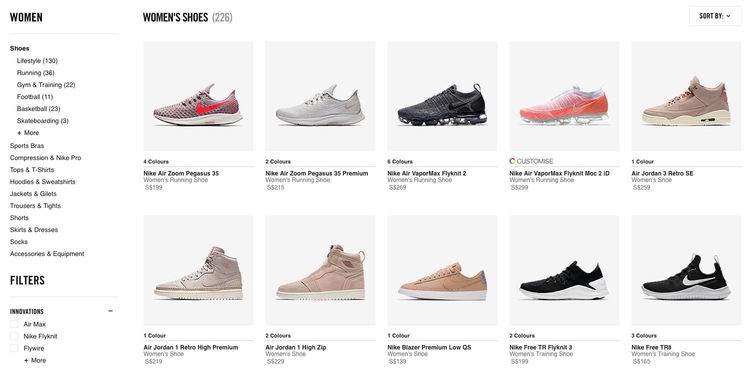 Nike Women s Shoes
