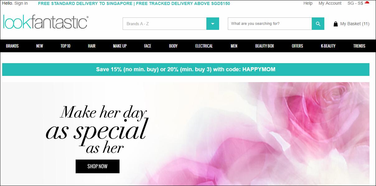 Lookfantastic Homepage