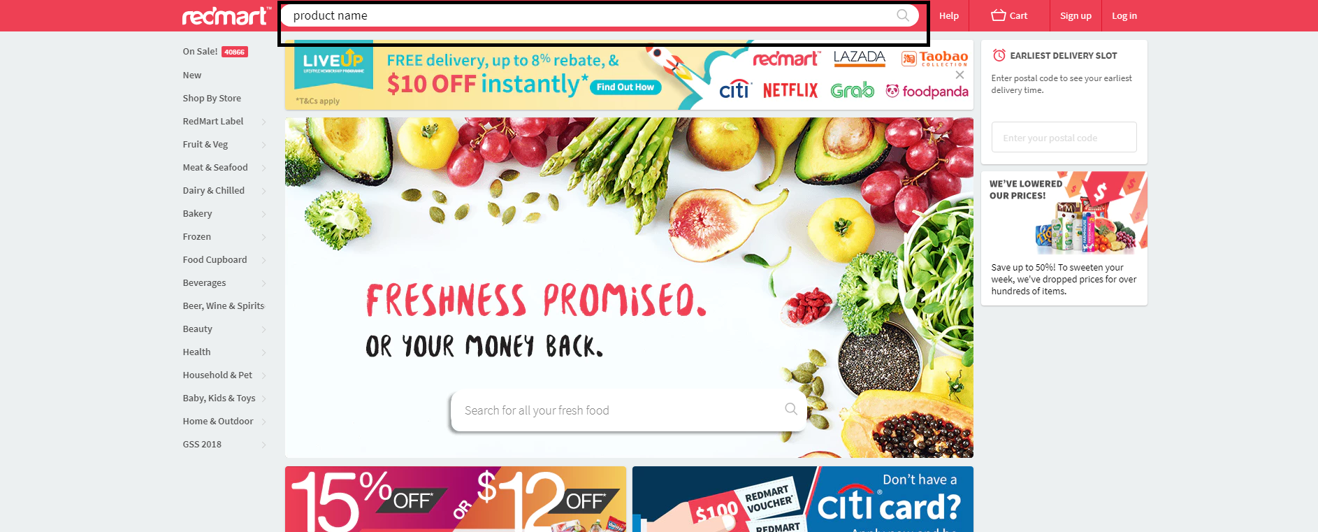Redmart Homepage