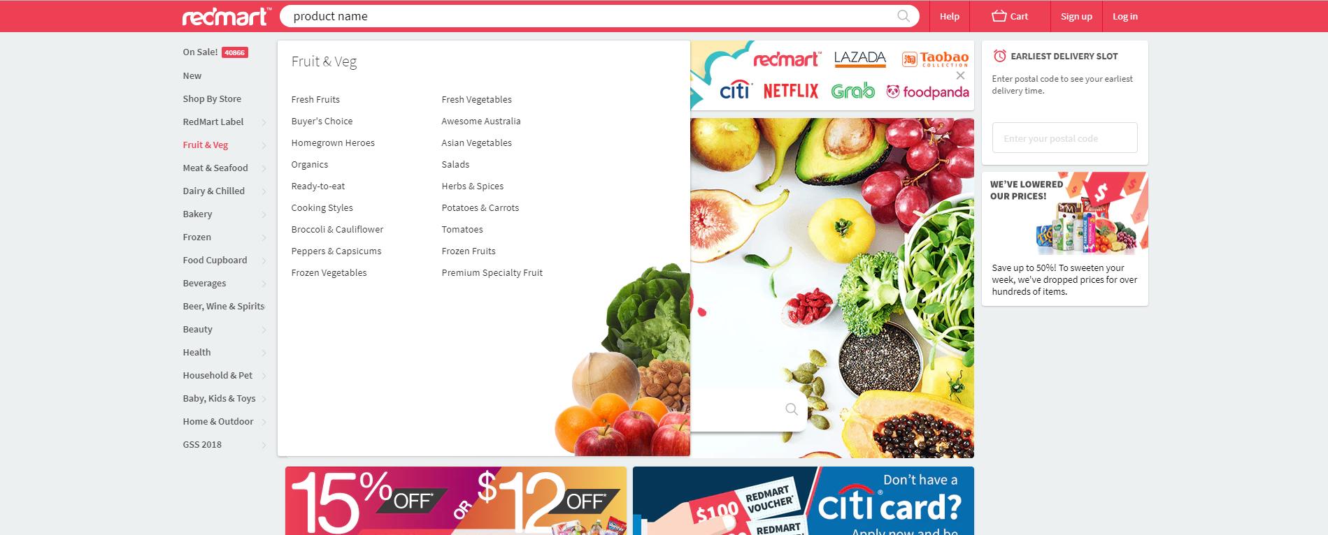 Redmart Categories