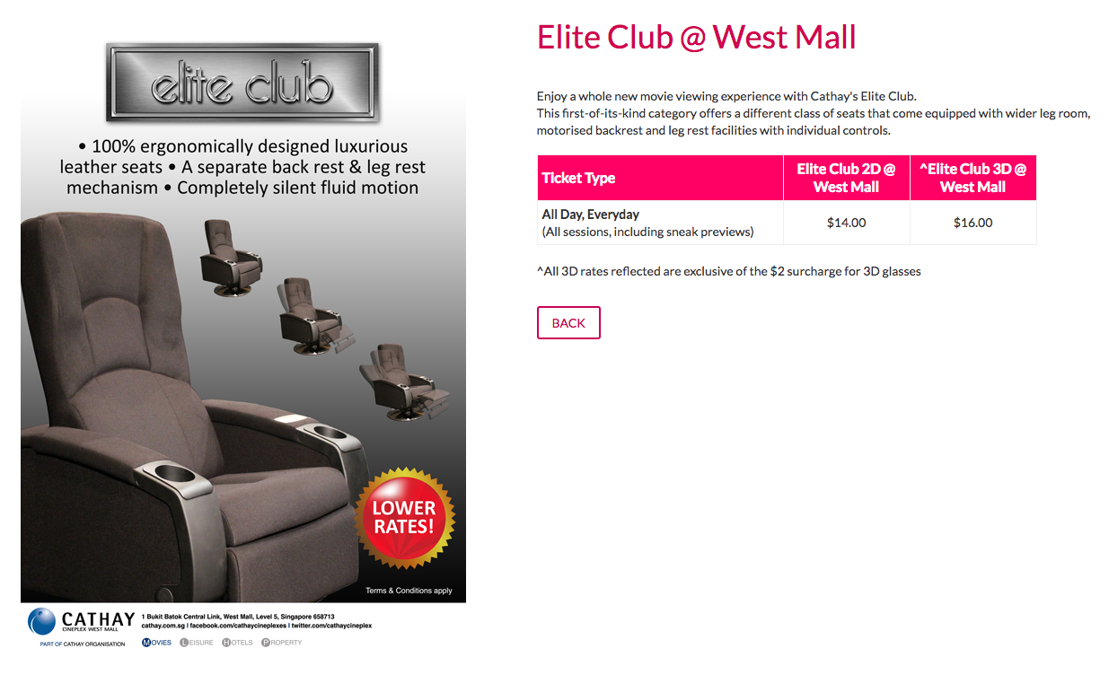 Cathay Cineplexes Elite Club