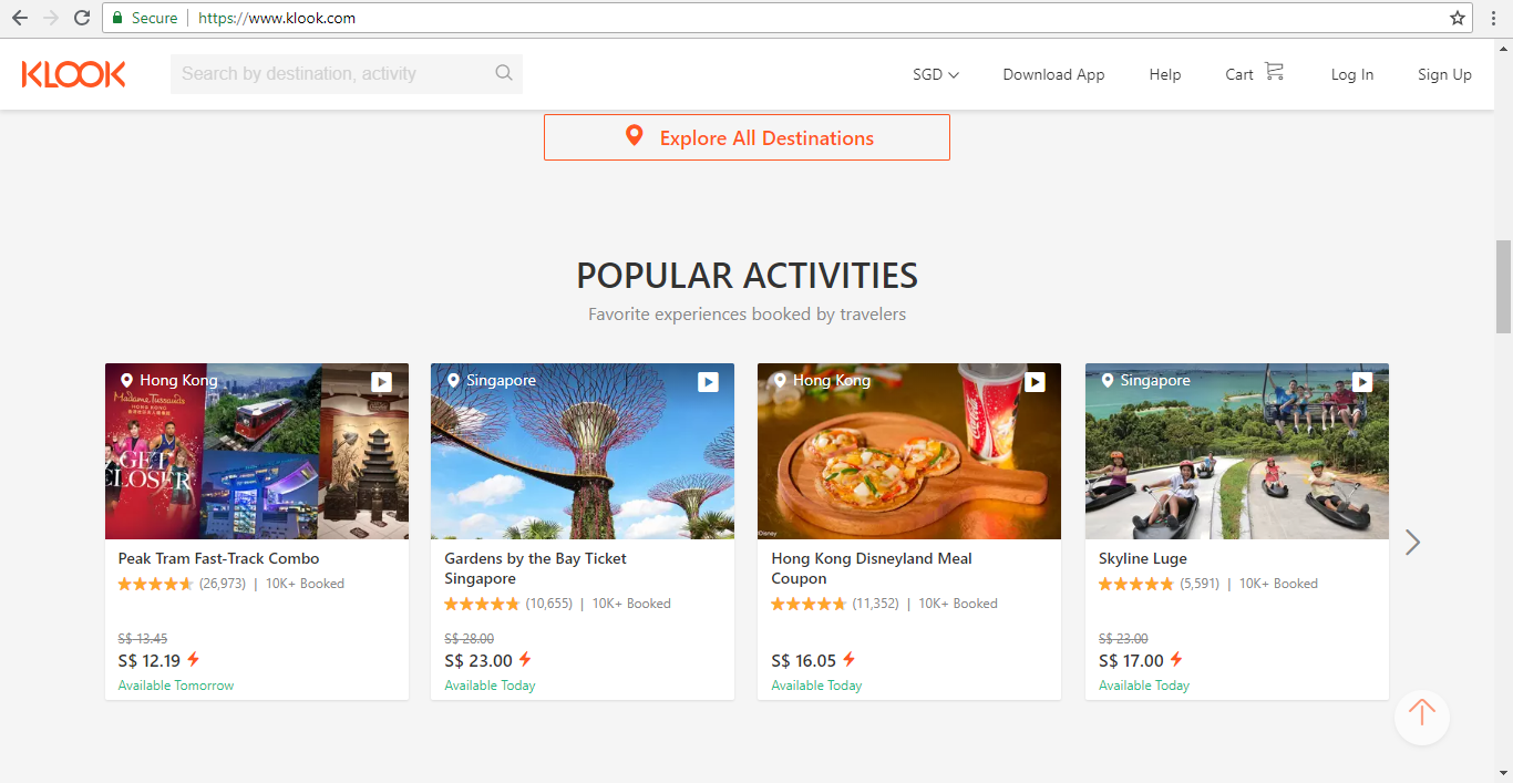 Klook Popular Activities