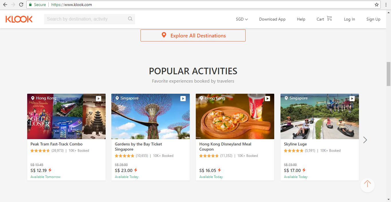 Klook Popular Activities