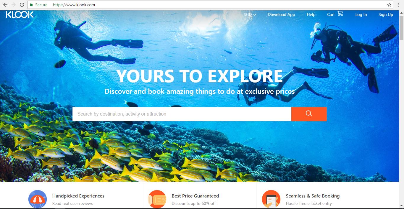 Klook Homepage