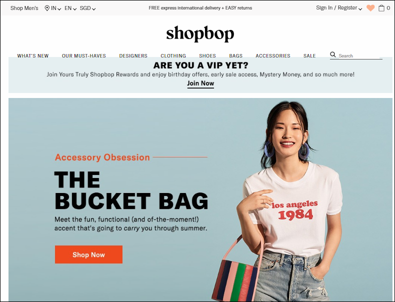 Shopbop Homepage