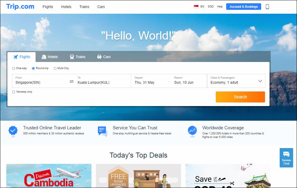 Trip.com Flight Booking