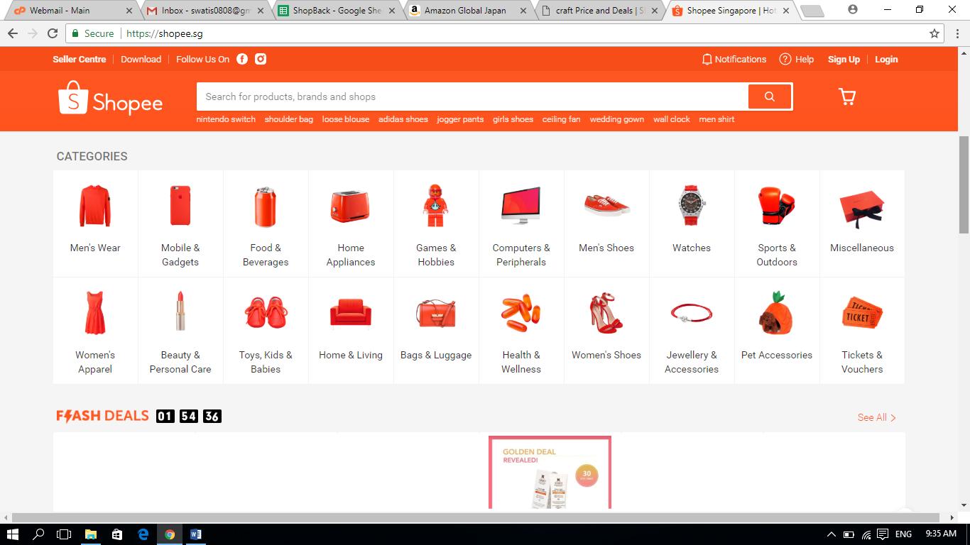 Shopee Homepage