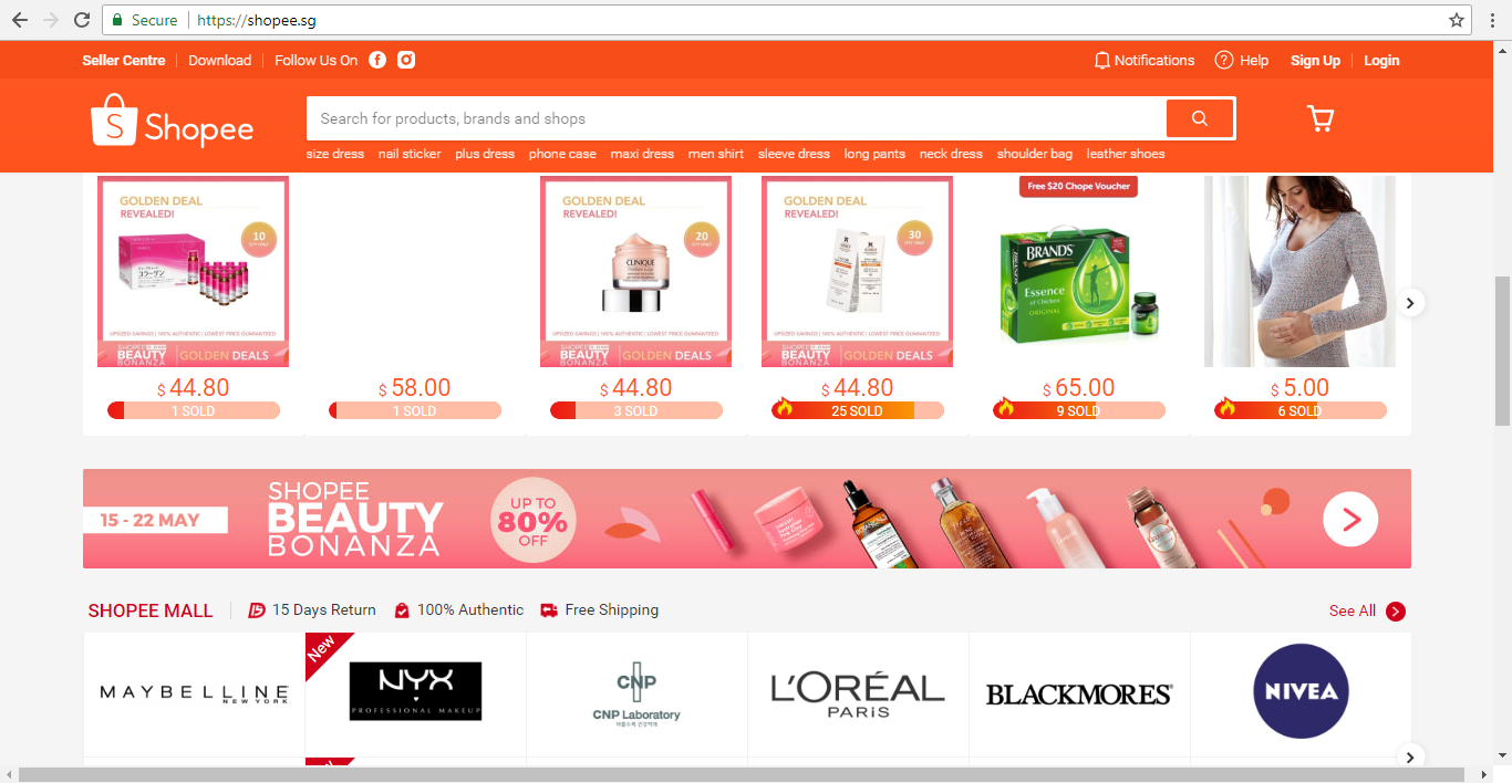 Shopee Product Listing