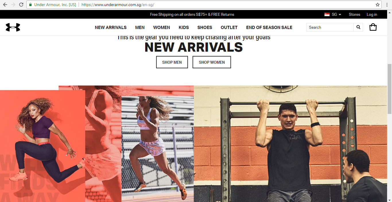 Under Armour New Arrivals