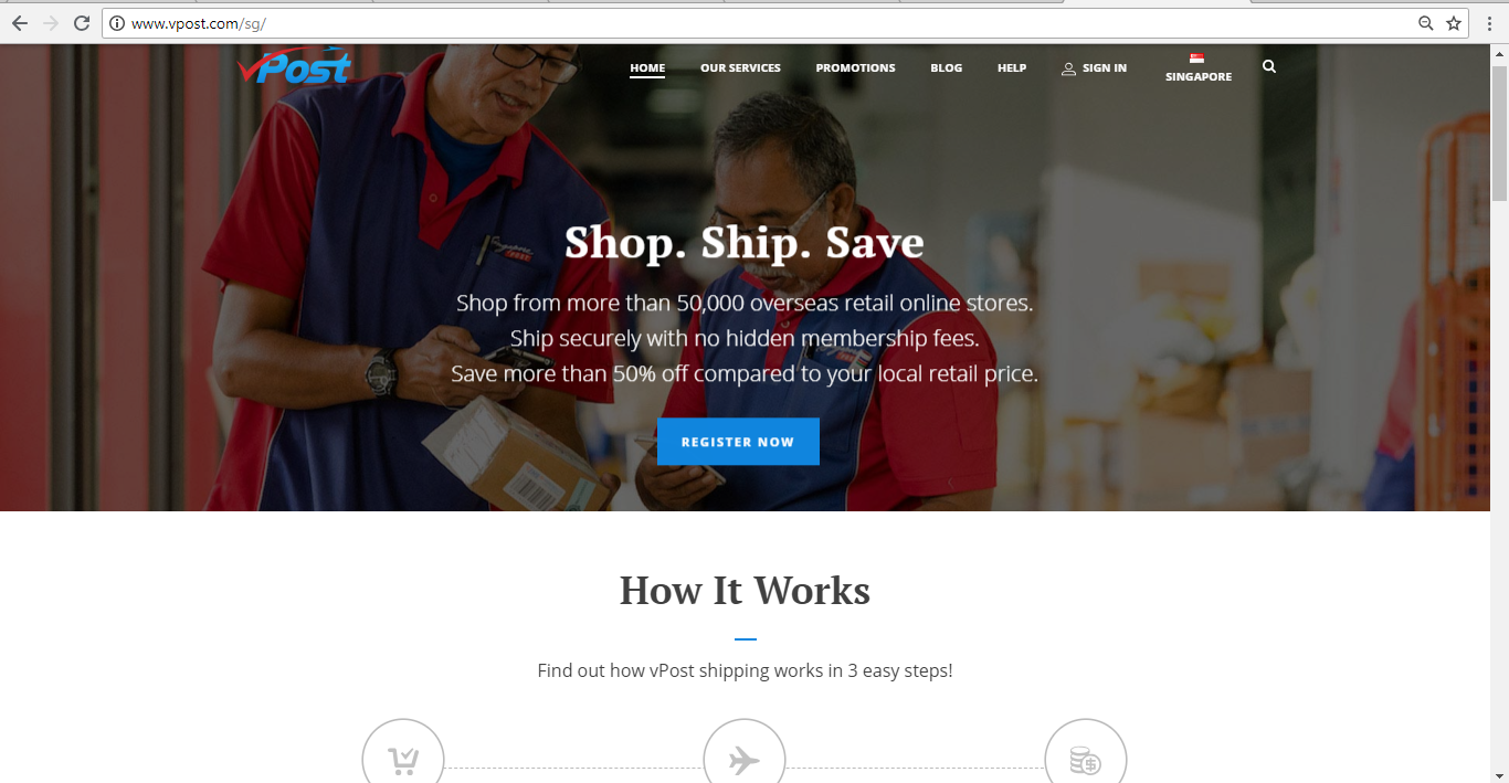 vPost Homepage