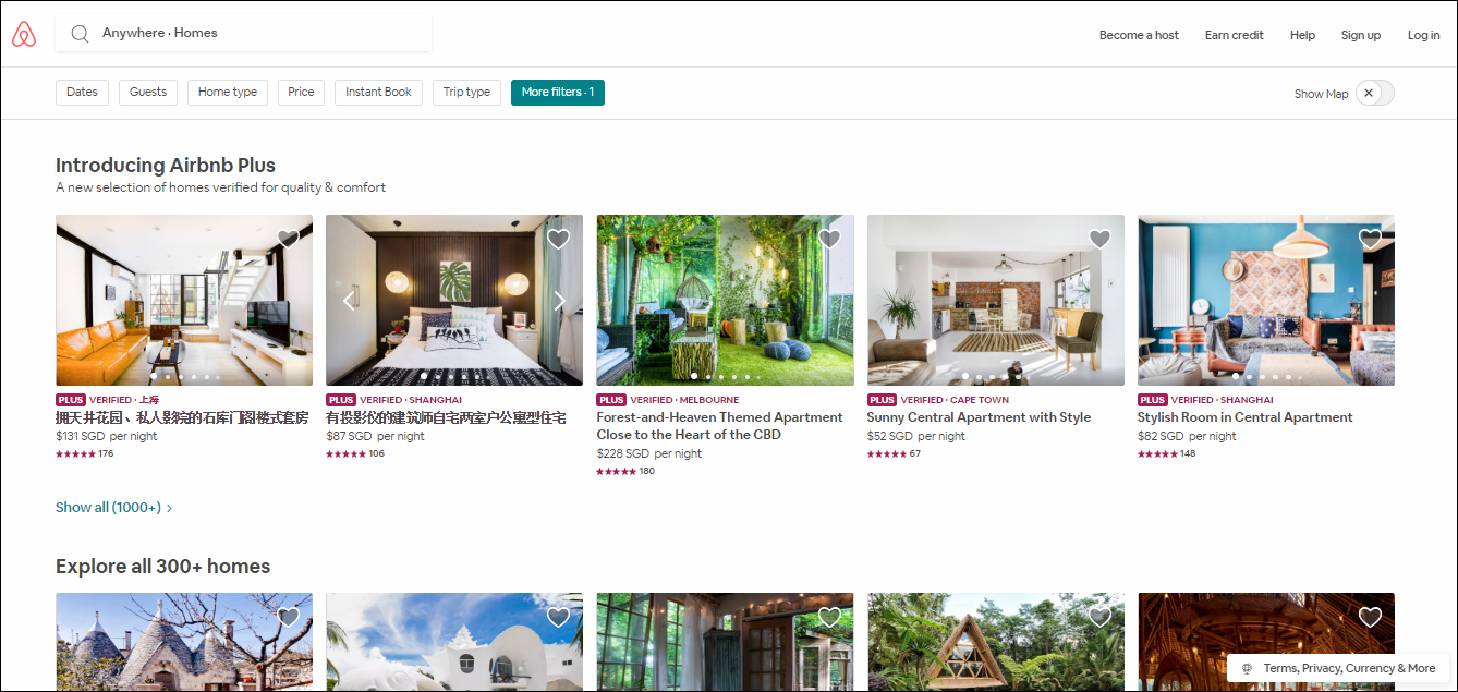 Airbnb Homes