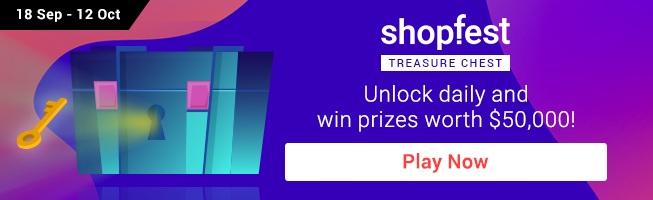 ShopFest Treasure Chest Unlock $50,000