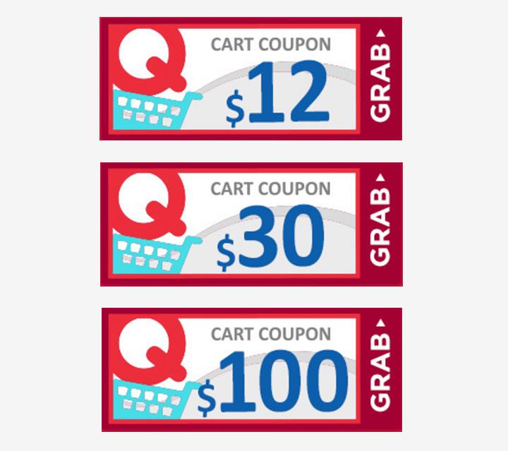 Grab a cart coupon