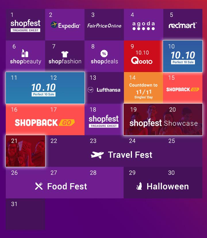 ShopFest Calendar