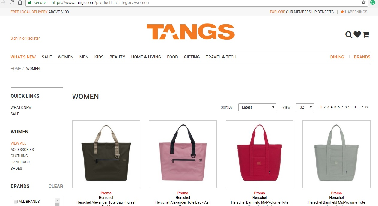 Tangs Women