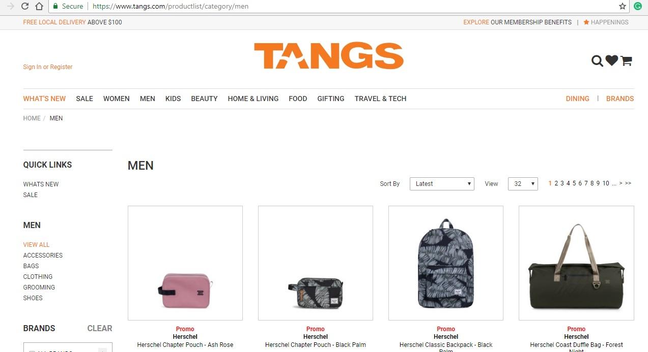 Tangs Men