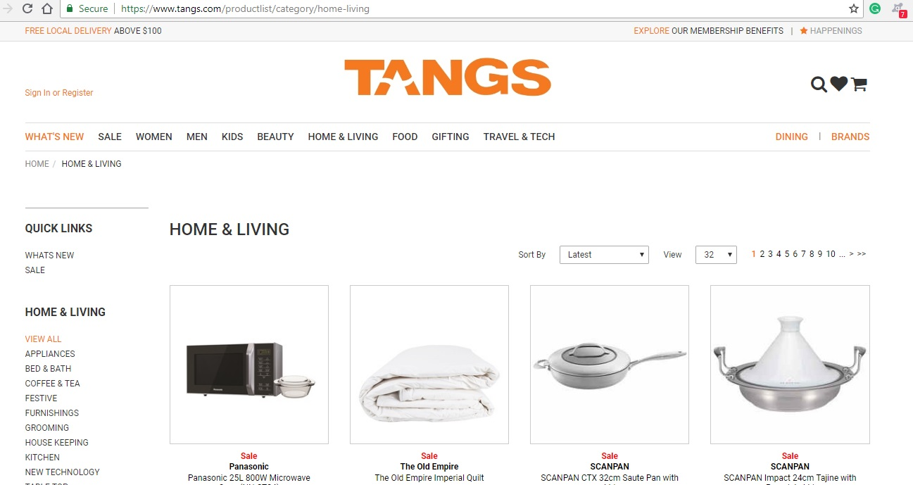 Tangs Home and Living