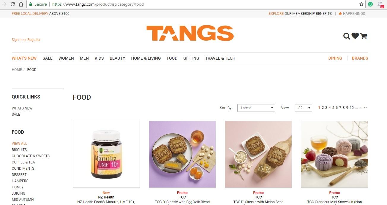 Tangs Food