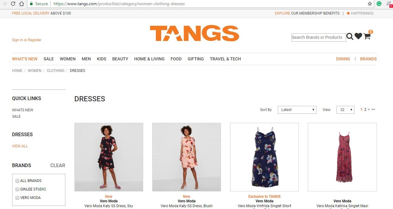 Tang Dresses