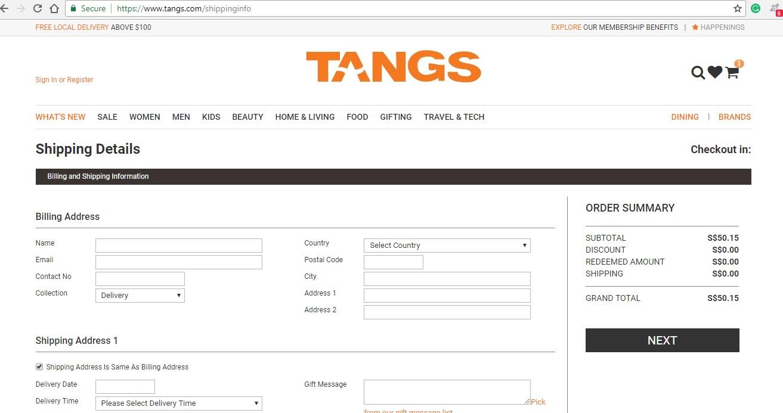 Tangs Shipping