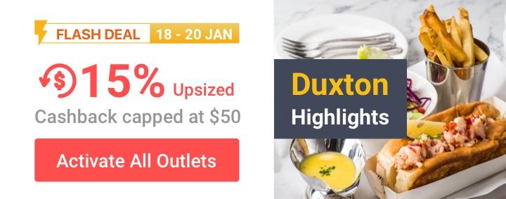 Duxton 15% Upsized Cashback