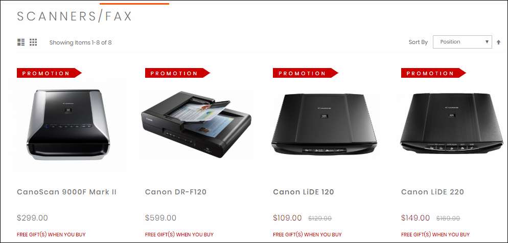 Canon Scanners and Fax