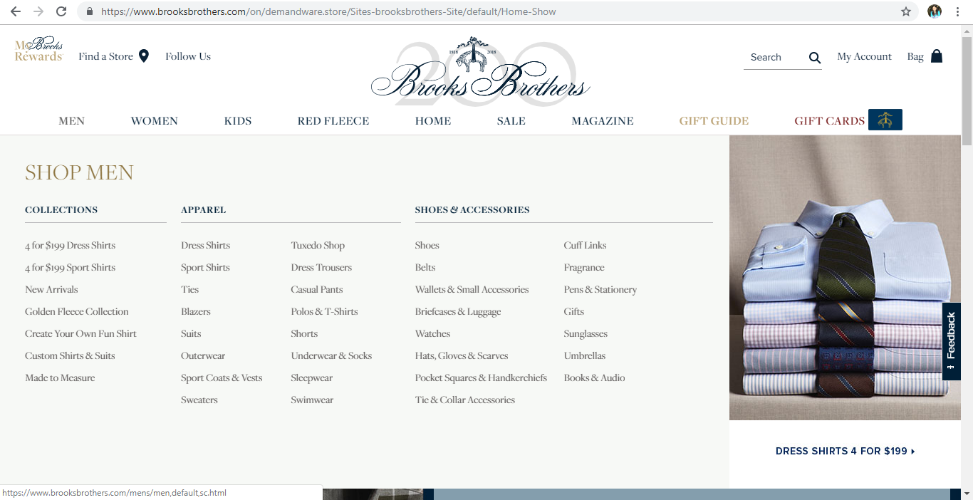 Brooks Brothers Men s Clothing