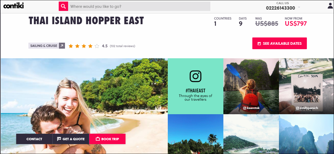 Contiki Thai Island Hopper East